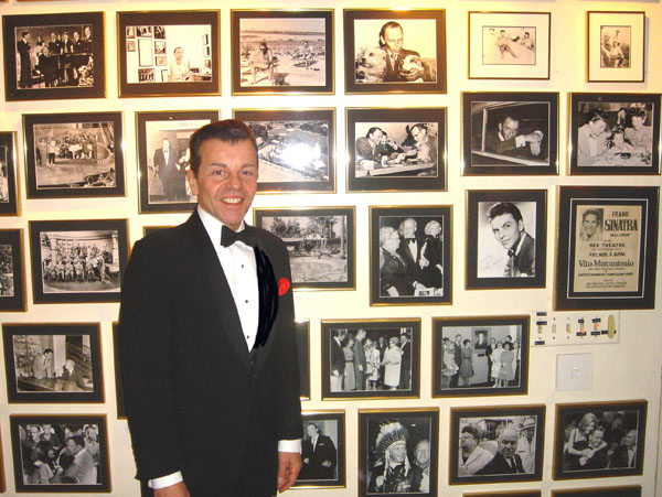 Vaughn at The Sinatra Estate wall of memories