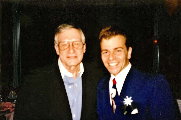 Vaughn with Hugh Hefner