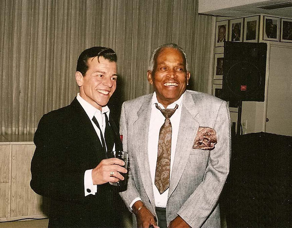 Vaughn with Sinatra valet George Jacobs