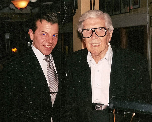 Vaughn with lifetime Sinatra pianist and conductor Bill Miller