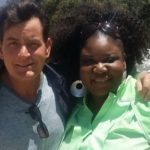 Charlie Sheen with choir member